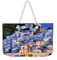 Serifos Town During Dusk Time Weekender Tote Bag