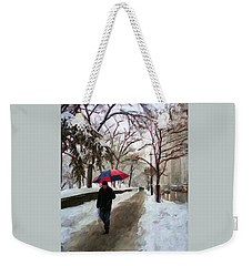 Snowfall In Central Park Weekender Tote Bag