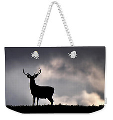 Weekender Tote Bag featuring the photograph Stag Silhouette by Gavin Macrae