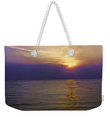 View Of Sunset Through Clouds Weekender Tote Bag