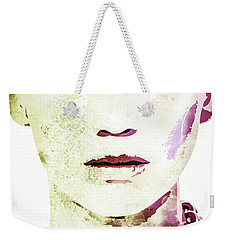 Jennifer Lawrence Weekender Tote Bag by Svelby Art