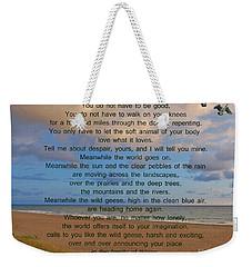 40- Wild Geese Mary Oliver Weekender Tote Bag