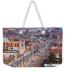 Weekender Tote Bag featuring the photograph 400 S Salt Lake City by Ely Arsha