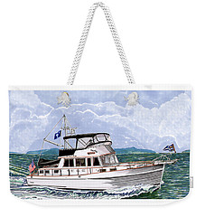 42 Foot Grand Banks Motoryacht Weekender Tote Bag