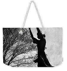 44 Years Of Waving - Black And White Weekender Tote Bag