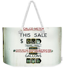 Weekender Tote Bag featuring the photograph 45 Cents Per Gallon by Rebecca Sherman