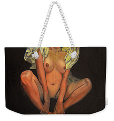 Weekender Tote Bag featuring the painting 5 30 A.m. by Thu Nguyen
