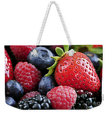 Assorted Fresh Berries Weekender Tote Bag by Elena Elisseeva