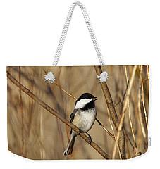 Black-capped Chickadee Weekender Tote Bag by Linda Freshwaters Arndt