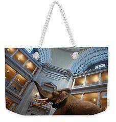 Bull Elephant In Natural History Rotunda Weekender Tote Bag