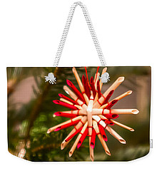 Weekender Tote Bag featuring the photograph Christmas Tree Ornaments by Alex Grichenko