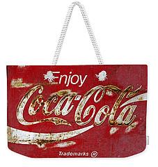 Coca Cola Vintage Rusty Sign Weekender Tote Bag