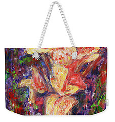 Weekender Tote Bag featuring the painting First Lady by Xueling Zou