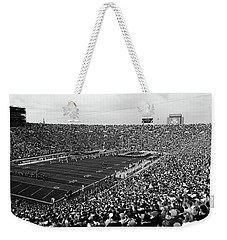 High Angle View Of A Football Stadium Weekender Tote Bag by Panoramic Images