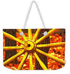 Wheels Of Time Weekender Tote Bag by Rowana Ray