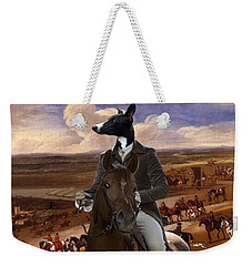 Whippet  Art Canvas Print Weekender Tote Bag