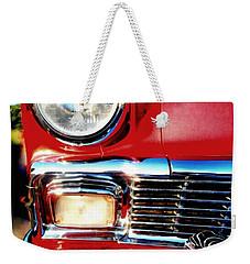 56 Chevy Bel Air Red American Classic Car  Weekender Tote Bag