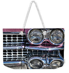 Weekender Tote Bag featuring the photograph 59 Caddy Lights by Victor Montgomery
