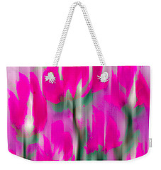 Weekender Tote Bag featuring the digital art 6 1/2 Flowers by Frank Bright