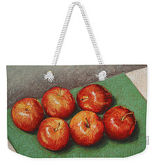 6 Apples Washed And Waiting Weekender Tote Bag by Marna Edwards Flavell
