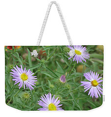 6 Asters Left Weekender Tote Bag