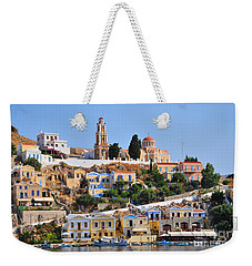 Colorful Symi Weekender Tote Bag