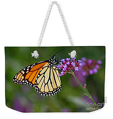 Monarch Butterfly In Garden Weekender Tote Bag