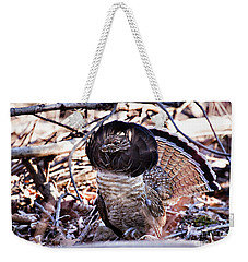 Ruffed Grouse Weekender Tote Bag by Ronald Lutz