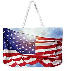 American Flag 55 Weekender Tote Bag
