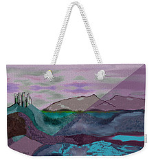 633 - A Dark Stormy Day   Weekender Tote Bag by Irmgard Schoendorf Welch