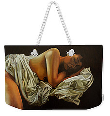 Weekender Tote Bag featuring the painting 7 Am by Thu Nguyen