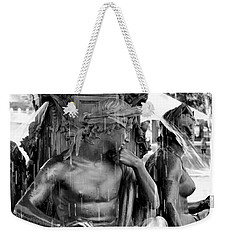 Brewer Fountain Boston Ma Black And White Weekender Tote Bag