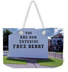 Free Derry Corner 4 Weekender Tote Bag