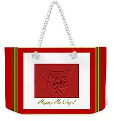 Happy Holidays  Weekender Tote Bag by Oksana Semenchenko