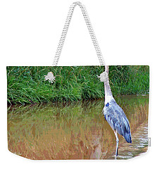 Blue Heron On The East Verde River Weekender Tote Bag