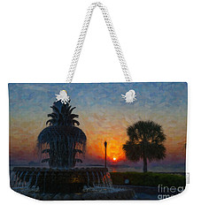 Pineapple Fountain At Dawn Weekender Tote Bag