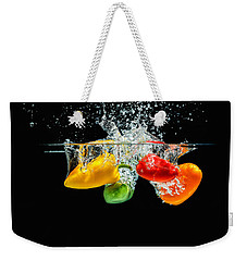 Splashing Paprika Weekender Tote Bag by Peter Lakomy