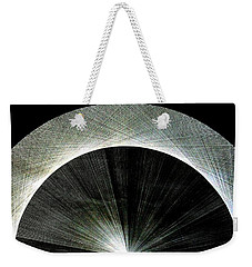 Weekender Tote Bag featuring the drawing 720 Pi Half Rainbow by Jason Padgett