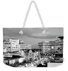 High Angle View Of Buildings In A City Weekender Tote Bag by Panoramic Images