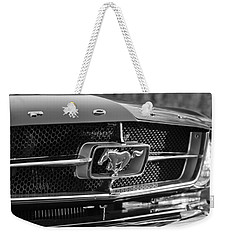 1965 Shelby Prototype Ford Mustang Grille Emblem Weekender Tote Bag by Jill Reger