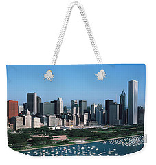 Aerial View Of Buildings In A City Weekender Tote Bag by Panoramic Images