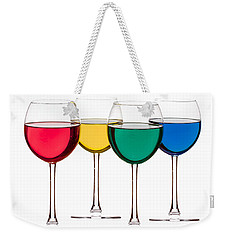 Colorful Drinks Weekender Tote Bag by Peter Lakomy