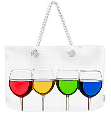 Colorful Wine Glasses Weekender Tote Bag by Peter Lakomy