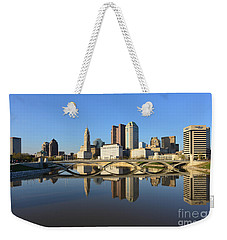 Fx1l-1058 Columbus Ohio Skyline Photo Weekender Tote Bag
