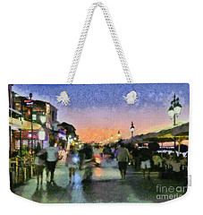 Sunset In Lefkada Town Weekender Tote Bag