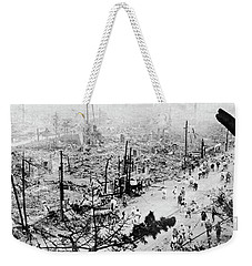 Weekender Tote Bag featuring the photograph Tokyo Earthquake, 1923 by Granger