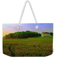 Conley Rd Spring Pasture Oaks And Barn  Weekender Tote Bag