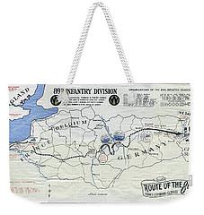 89th Infantry Division World War I I Map Weekender Tote Bag