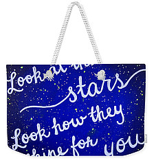 8x10 Look At The Stars Weekender Tote Bag by Michelle Eshleman