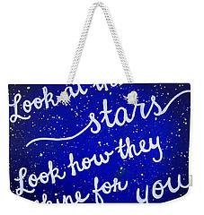 8x10 Look At The Stars Weekender Tote Bag